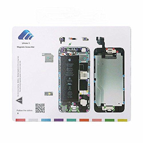 Alfombrilla magnética para proyectos para iPhone 6/7/7 Plus, almohadilla de reparación de tornillos, guía profesional, herramienta de reparación