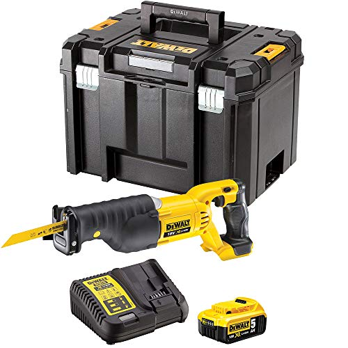DeWalt DCS380N 18V Reciprocating Saw with 1 x 5.0Ah Battery & Charger in case