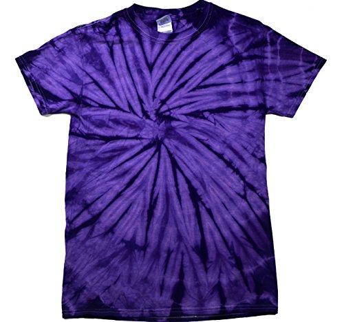 Colortone Tie Dye T-Shirt 2X Spider Purple