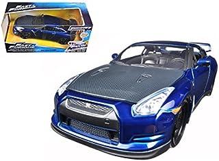 "Brian`s 2009 Nissan GTR R35 Blue ""Fast & Furious 7"" Movie 1/24 Model Car by Jada"