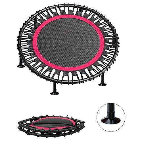 Home Exercise Equipment 40'-48' Silent Mini Trampoline Fitness Trampoline Bungee Rebounder Jumping Cardio Trainer Workout for Adu(Rebounder Trampoline) Fitness