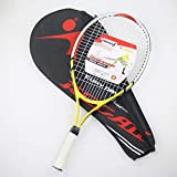 LFYPSM Raquette De Tennis pour Enfants Et Adolescents Portant Une Raquette Multicolore en Aluminium en Forme De Sac pour Enfants en Option De Qualité Et Pas Cher,Yellow