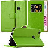 Cadorabo Funda Libro para Huawei P8 Lite 2017 en Verde Hierba - Cubierta Proteccíon con Cierre Magnético, Tarjetero y Función de Suporte - Etui Case Cover Carcasa