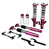 Godspeed MSS0680-B MonoSS Coilover Lowering Kit, Fully Adjustable, Ride Height, Spring Tension And 16 Click Damping, compatible with Mazda Mazdaspeed 3 (BL) 2010-13
