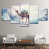 CVBGF 5 Impresiones artísticas de Alta definición, Iceberg Camel Castle imágenes gráficas artísticas, Carteles e Impresiones Modernas de Alta definición,con Marco
