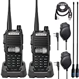 BaoFeng UV-82 High Power 2 Way Radio Portable Ham Radio BaoFeng Walkie Talkies with Programming Cable and 2 AR-771 Antenna,2 Microphone