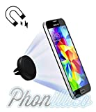 Phonillico Support Voiture Aimanté Noir pour Samsung Galaxy au Choix - Support Auto Magnetique Universel Grille Aeration - Galaxy...