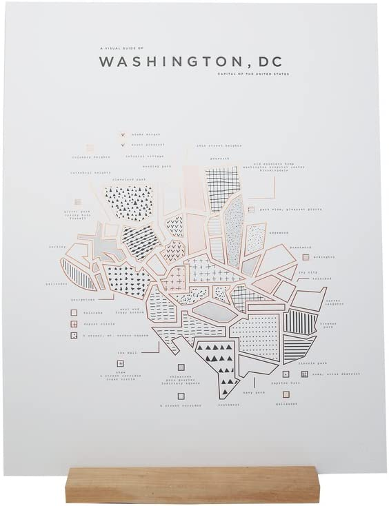 ROAM by 42 Pressed Map Washington Soldering D.C. Direct stock discount Print