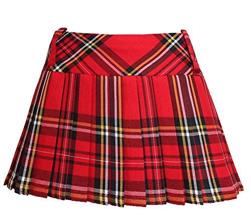 Minifalda tartán, de cuadros escoceses, plisada, 30,5 cm rojo rosso mujer: 8