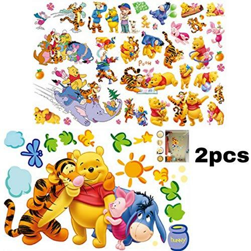 Color/é Cr/éatif Transfert Autocollants Winnie the Pooh /& Friends 2 Feuilles par Disney