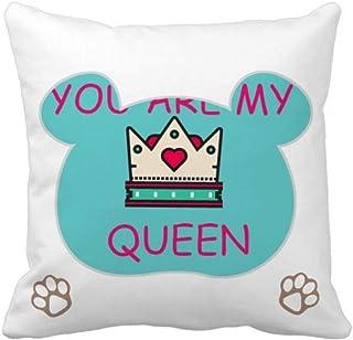 OFFbb-USA My Queen Royal Regina Majesty Bear - Funda cuadrada para almohada
