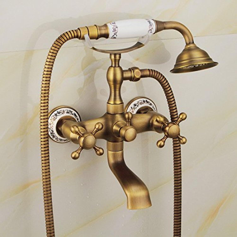 S.TWL.E Küche Küchenarmatur Waschtischarmatur Mischbatterie Spülbecken Armatur Wasserhahn Bad Messing Antik Wand Dusche Wasserhahn Stylec