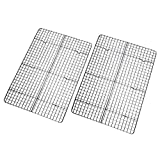 Checkered Chef Cooling Rack - Set of 2 Stainless Steel, Oven Safe Grid Wire Racks for Cooking &...