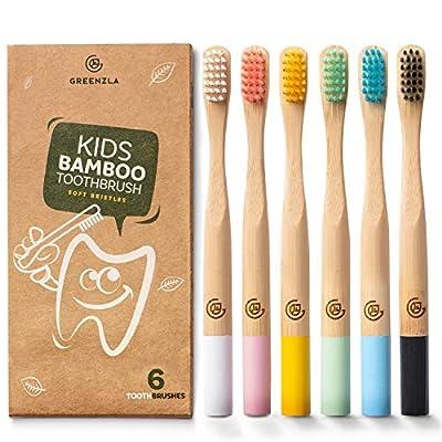 Greenzla Kids Bamboo Toothbrushes 6 Pack  BPA 17042021125135