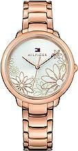 Tommy Hilfiger Women's Quartz Watch Strap, Rose Gold, 15 (Model: 1781780)
