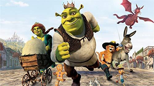 Película Shrek Iii 5D Diy Pintura Diamante Taladro Completo Kit, 5D Diamond Painting, Diamante Bordado De Punto De Cruz Para La Decoración De La Pared Del Hogar - 40 X 60Cm