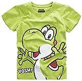 Super Mario Camiseta Kids Yoshi Nintendo Cotton Green - 122/128