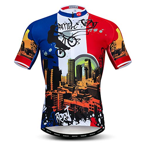 Cycling Jerseys Men,Mountain Bike Jersey Summer Short Sleeve Breathable Bicycle Tops Riding Bike Shirts Quick Dry