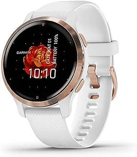 Garmin Venu 2S smartwatch GPS do monitorowania kondycji, różowozłota ramka i biała koperta