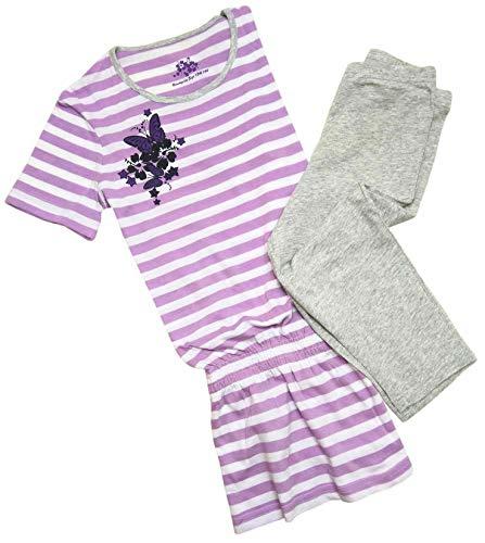 Tchibo TCM Mädchen Schlafanzug mit 3/4 Leggings Baumwolle (146/152)