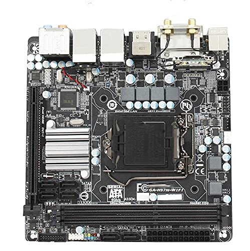 Placa de Escritorio FIT FOR Gigabyte GA-H97N-WIFI DDR3 H97 LGA 1150 I3 I5 I7 Mini-ITX 17X17 USB3.0 HDMI