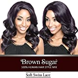 ISIS Human Hair Blend Whole Lace Wig Brown Sugar Soft Swiss Lace BS404 (1)