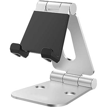 Nulaxy iPadスタンド タブレットスタンド スマホスタンド 充電スタンド 折り畳み式 270°自由調整可能 4-13インチに対応 Nintendo Switchスタンド A3(シルバー)