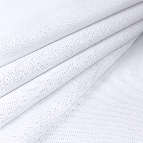 Pllieay 14 Count Big Size Classic Reserve Aida Cloth White Cross Stitch Fabric, 59 x 39 Inch