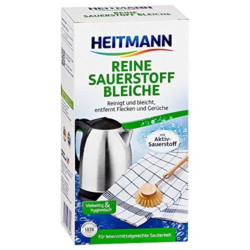 Heitmann Reine Sauerstoff-Bleiche: für Sauberkeit im Haushalt, hohe Waschkraft mit Soda und Sauerstoff, bleicht und entfernt zuverlässig Flecken von Oberflächen und aus Textilien, 375g