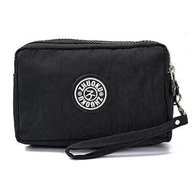 LIFEMATE Waterproof Cell Phone Pouch Handbag Nylon Wallets for Women Wristlet Bag Purse