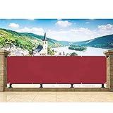 Hisunny GartenSichtschutz 70x700cm 100% Polyester 160g/m² Sichtschutzplane Balkon In div. Größen...