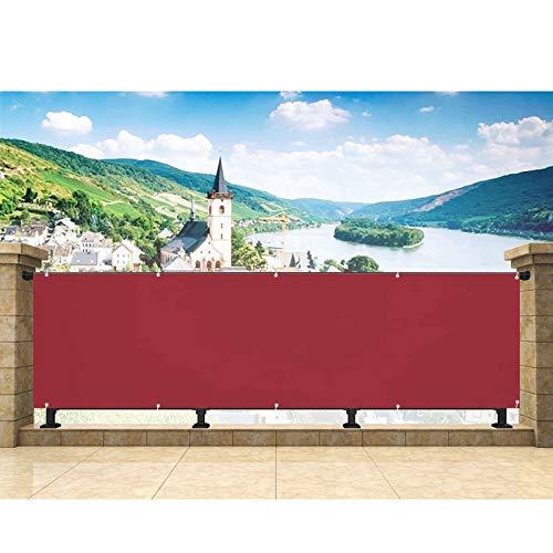 Pantalla de Privacidad 85x500cm Privacidad de Balcón y Pantallas Protectoras Lona Valla Resistente al al Agua para Jardín Balcón Terraza Piscina Rojo
