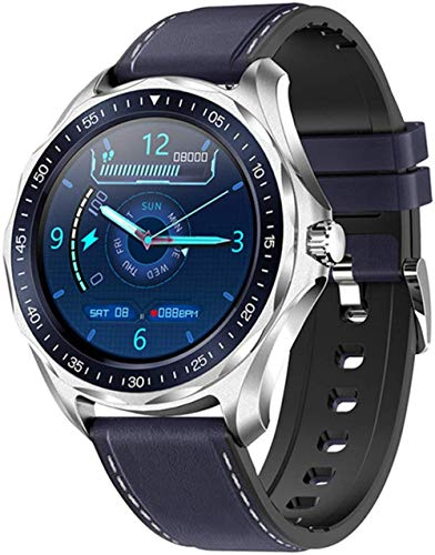 Reloj inteligente impermeable con frecuencia cardíaca, monitor de presión arterial y clima, reloj inteligente de moda y seguimiento de fitness