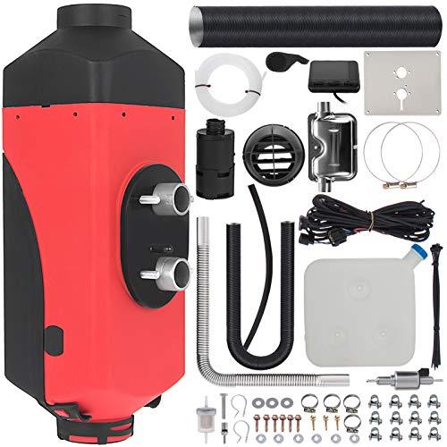 Mophorn Calentador de Aire Diesel 12V 2KW con Silenciador Calentador de Combustible Calefacción Estacionaria Diesel Calentador Coche Diesel Aire Calentador Motor Diesel