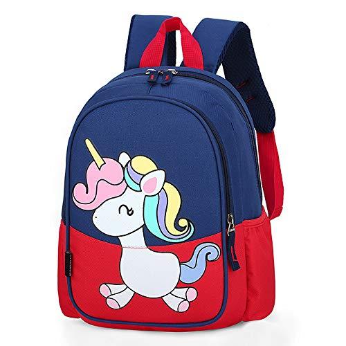 XMYNB Kinder Schultasche Cartoon Niedlichen Rucksack Pony Nylon Kinder Schultasche Rot 22 * 11 * 31Cm
