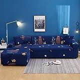 haoyunlai Fundas de sofá elásticas en Forma de L Fundas de sofá seccionales Funda de sofá para Muebles 1 2 3 4 Asientos Sofá Tipo L Necesita Comprar 2 Fundas de sofá-08_1 Plaza 90-140cm