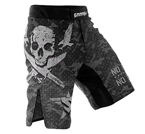 SMMASH Combat 2.0 Herren Sport Shorts für Boxen Kampfsport MMA, UFC, Training Sporthose Kurz für Männer, Crossfit Trainingshose Atmungsaktiv und Leicht, Hergestellt in der EU (XL)