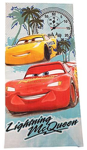 Cars Disney Pixar Handtücher Badetücher Strandtücher für Kinder mit Motiven von Lightning McQueen, Cruz Ramirez & Jackson Strom 70x140 cm (Lightning McQueen, bunt)