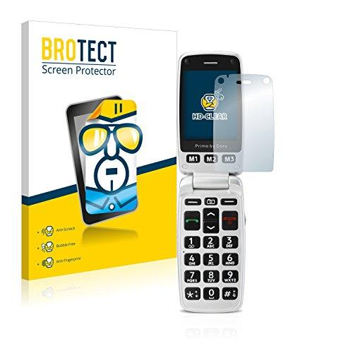 BROTECT Schutzfolie kompatibel mit Doro Primo 413 (2 Stück) klare Bildschirmschutz-Folie