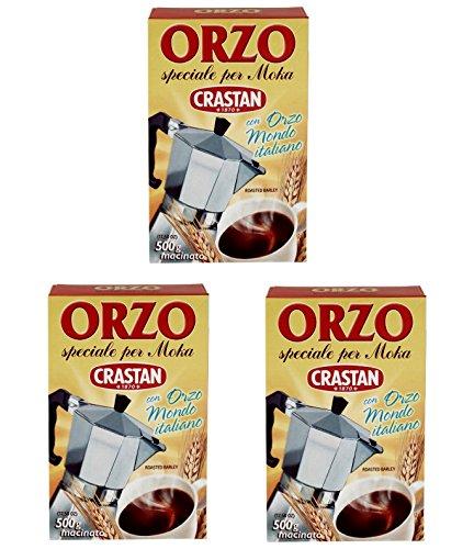3x Crastan Orzo per moka kaffee Instant lösliche Gerste Getreidekaffee Kaffee 500gr