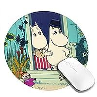 丸型 マウスパッド ムーミン ゲーミングマウスパッド パソコン 周辺機器 光学式マウス対応 オフィス自宅兼用 防水 洗える 滑り止め 高級感 耐久性が良い 20*20cm