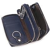 Baonika Y377 - Estuche de llaves Mujer Hombre unisex adulto, Double Zip Blue (azul) - Y377