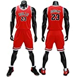 unbrand Enfant garçon NBA Michael Jordan # 23 Chicago Bulls Short de Basket-Ball Retro Maillots d'été Uniforme de Basket-Ball Top & Shorts