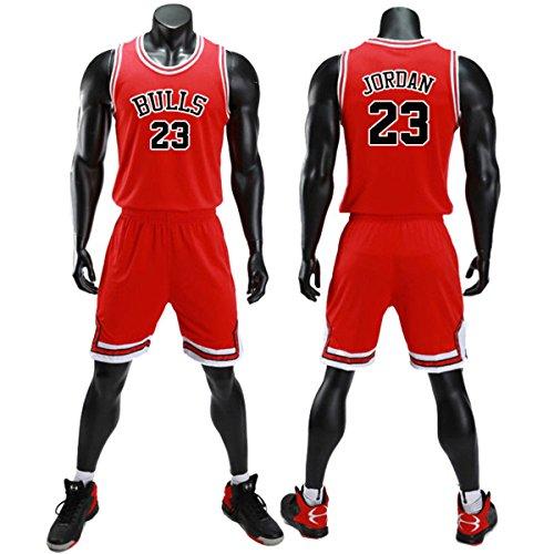 unbrand Kinder Junge Herren NBA Michael Jordan # 23 Chicago Bulls Retro Basketball Shorts Sommer Trikots Basketballuniform Top & Shorts Basketball Anzug