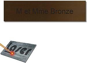 Mygoodprice Naambordje voor brievenbussen, zelfklevend, 10 x 2,5 cm, personaliseerbaar, 1 tot 3 regels, brons