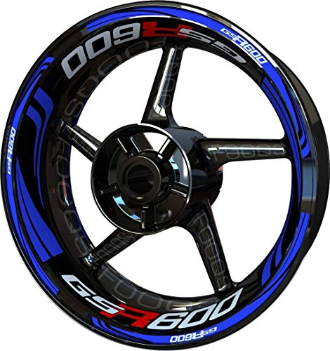 Motocicleta Moto Llanta Inner Rim Tape Decal Pegatinas F2 para Suzuki GSR 600 (Azul)