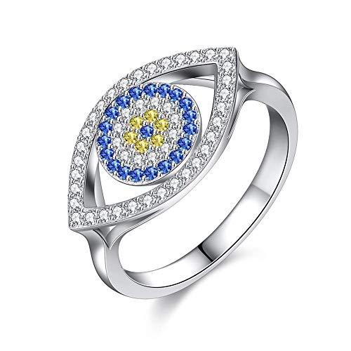 FashionTurkish Design Cz Fatima Hand colgante anillo encanto Hamsa oro Vintage turco mal de ojo anillos para Mujeres Hombres