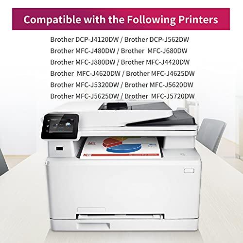 Uoopo LC223XL Compatible Cartuchos de tinta Brother LC223, Juego de 15 para Brother MFC-J5320DW J4420DW J4620DW J4625DW J480DW J5620DW J5625DW J5720DW J680DW J880DW DCP-J4120DW DCP-J562DW Impresora