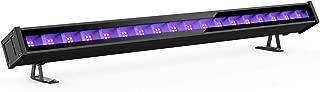 Onforu 45W Luz LED UV Lámpara de Luz Negra, 72 LEDs Barra Ultravioleta Iluminación de Escenario con Interruptor, Cable de Alimentación de 1.5M para Bar Discoteca DJ Disco Halloween Navidad Fiesta