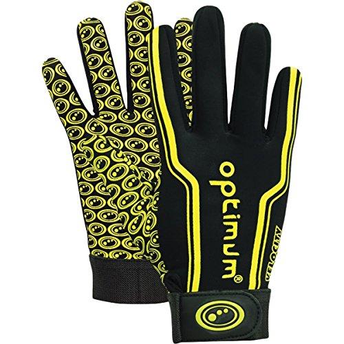 Optimum Gloves Gants de Rugby Senior Velocity, Noir/Jaune, Petit Unisex-Youth, Yellow, Small